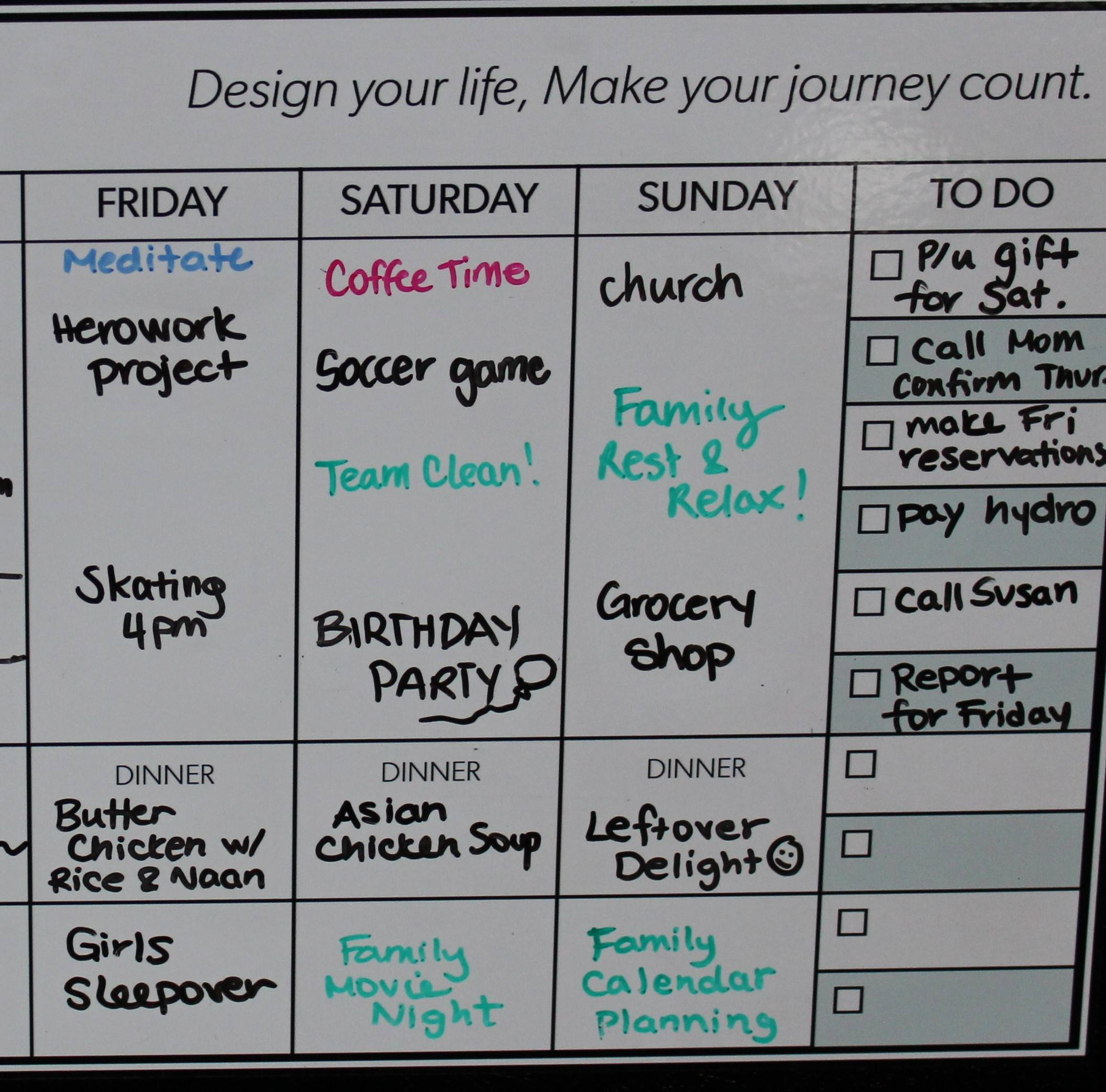 By Design Peel Amp Stick Whiteboard Weekly Calendar By Design