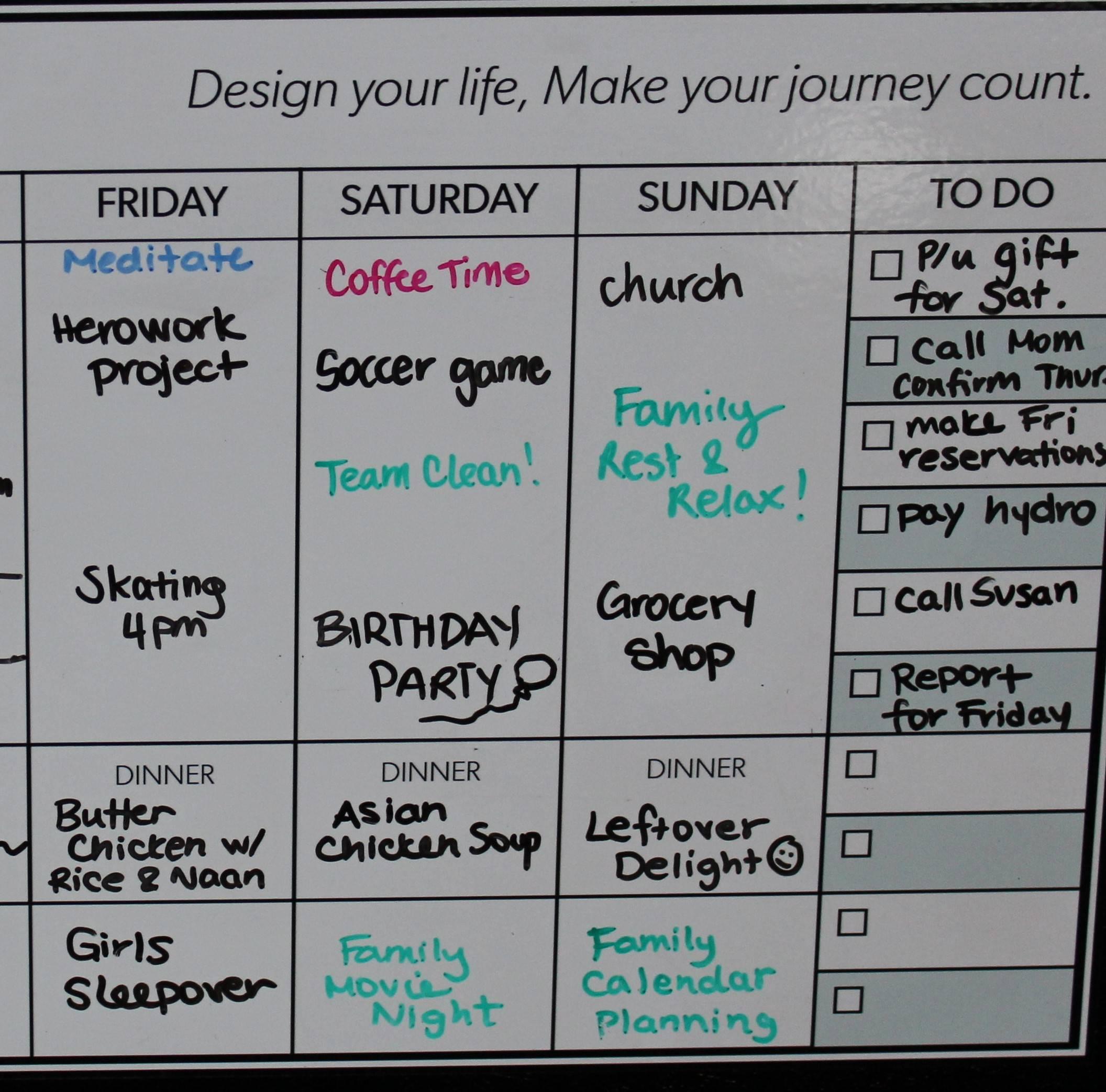 by design peel  u0026 stick whiteboard weekly calendar