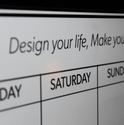 By Design Peel & Stick Whiteboard Weekly Calendar